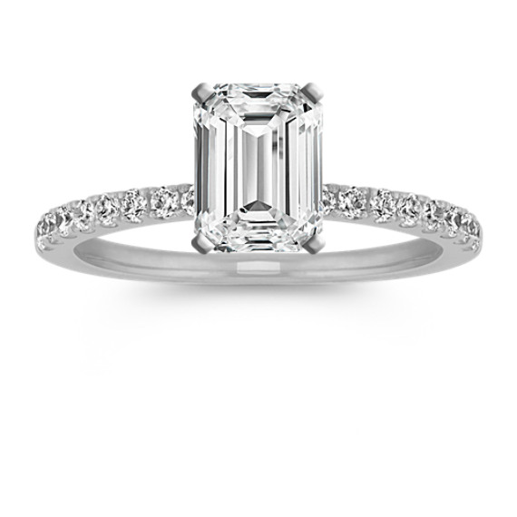 Pave-Set Diamond Engagement Ring
