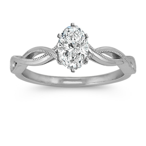 Infinity Swirl Diamond Engagement Ring