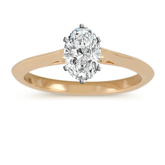 Vintage Cathedral Knife-Edge Solitaire Ring