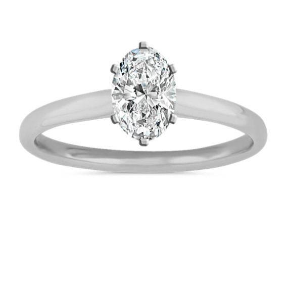 Classic Engagement Ring in 14k White Gold