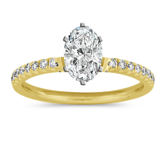 Diamond Hidden Halo Engagement Ring in 14k Yellow Gold