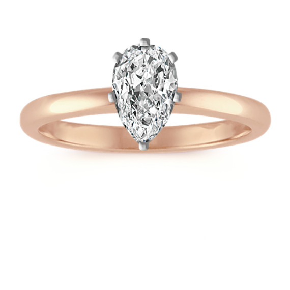 Classic Solitaire Engagement Ring in 14k Rose Gold