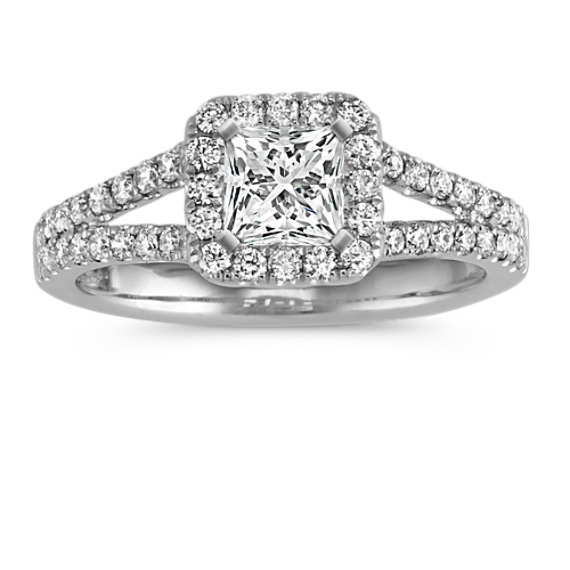 pave gold w engagement stg diamond halo item rings rnd shank ring white and round center