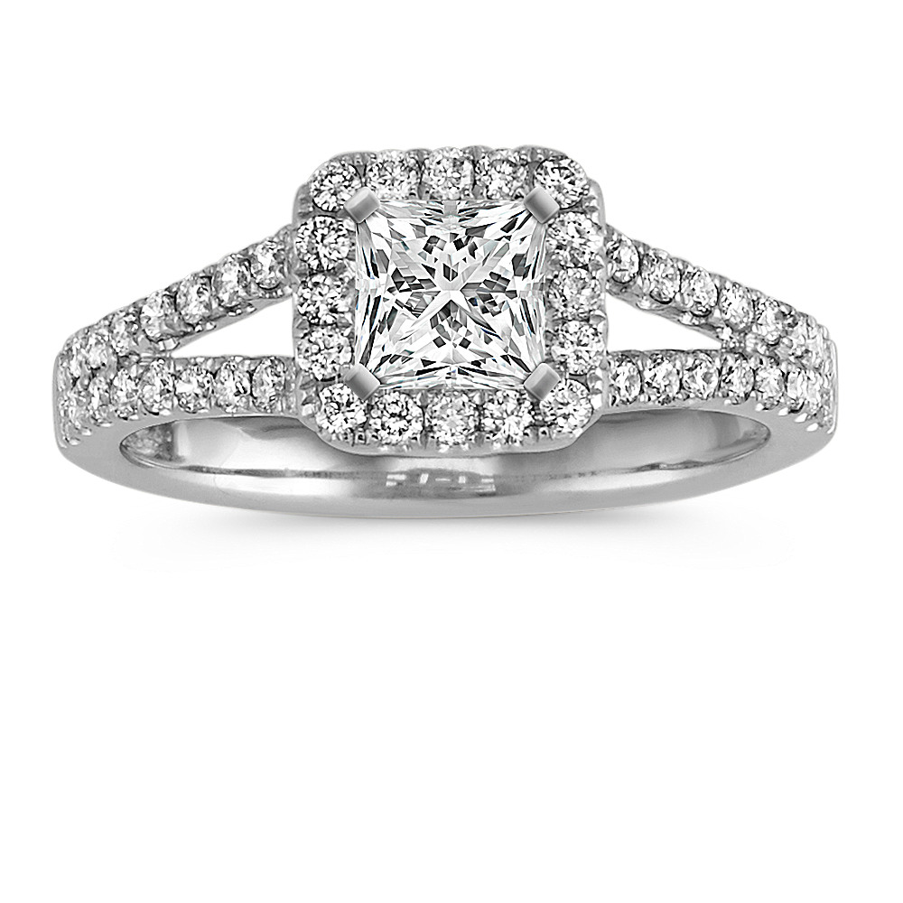 rings collection split diamond setting engagement sylvie shank ring