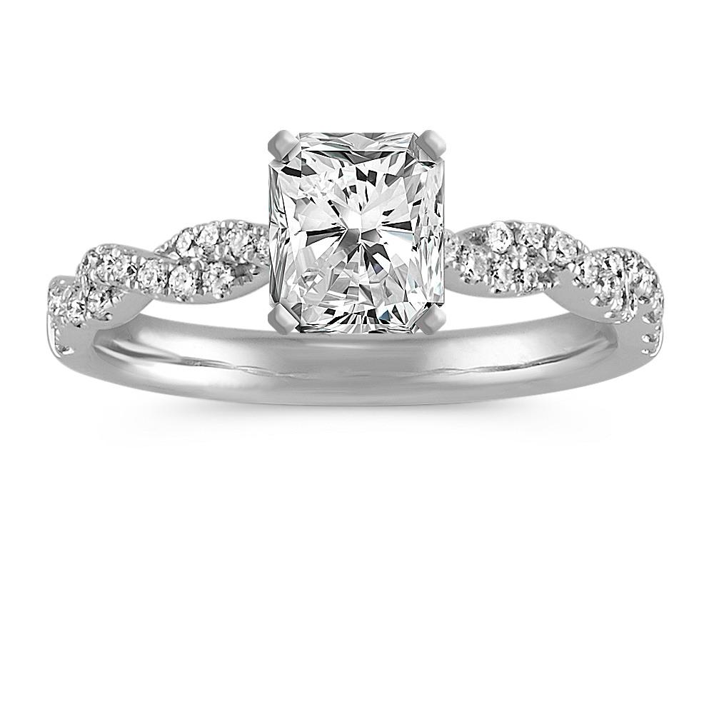 abbraccio engagement shank ring pin danhov single diamond infinity