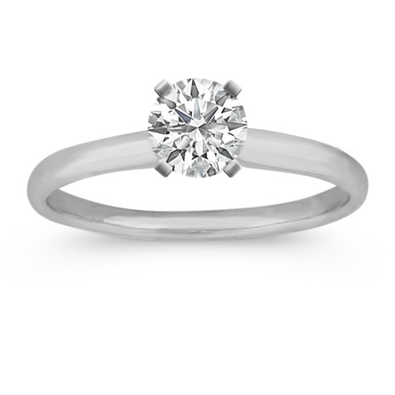 Classic Engagement Ring for .50 ct Round Gemstone