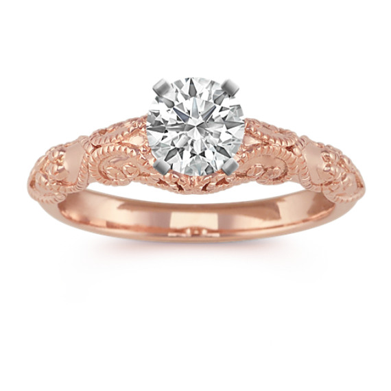 Vintage Engagement Ring in 14k Rose Gold