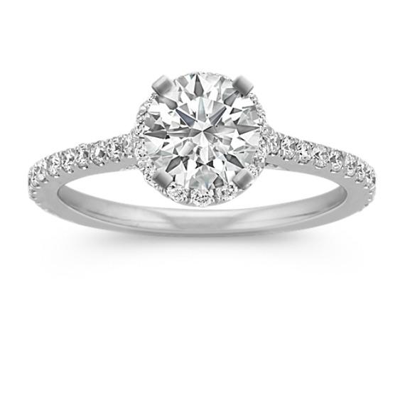 Halo Diamond Engagement Ring for 0.75 Carat Round