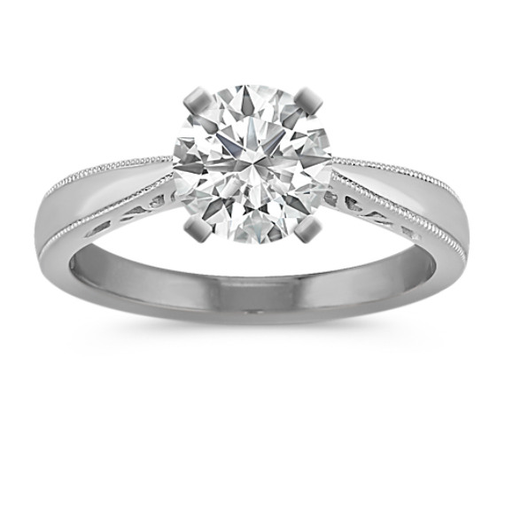 Platinum Cathedral Solitaire Engagement Ring