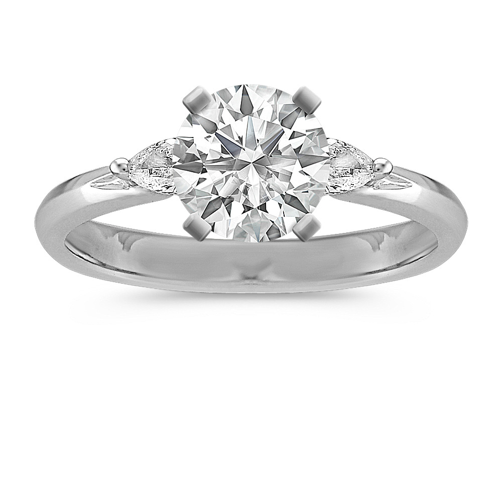 by london rings ring engagement shaped pear diamond two halo