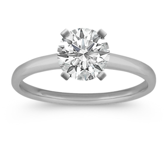 Dainty Engagement Ring in Platinum