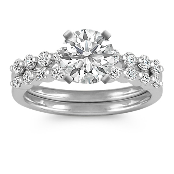 Classic Round Diamond Wedding Set