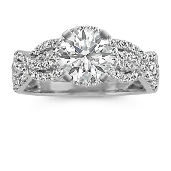 Double Diamond Infinity Halo Engagement Ring