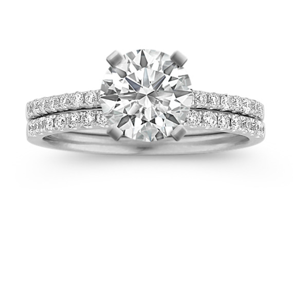 Cathedral Diamond Platinum Wedding Set