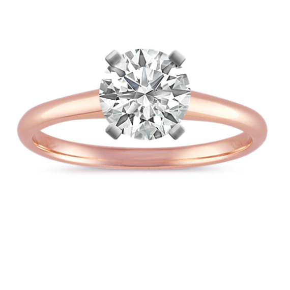 Solitaire 14k Rose Gold Engagement Ring