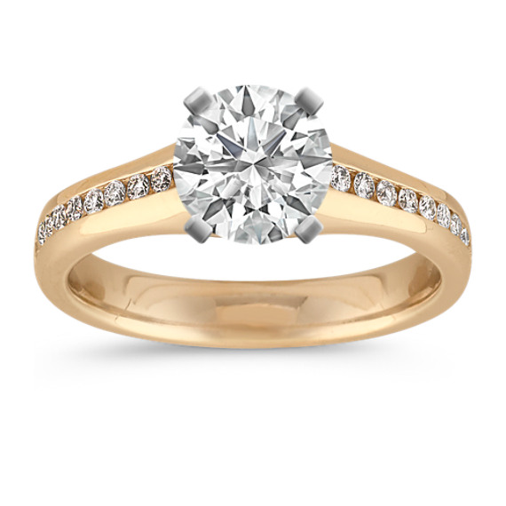 Classic Channel-Set Engagement Ring in 14k Yellow Gold