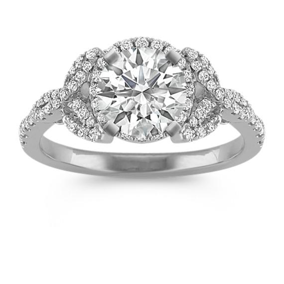 Halo Round Diamond Ring
