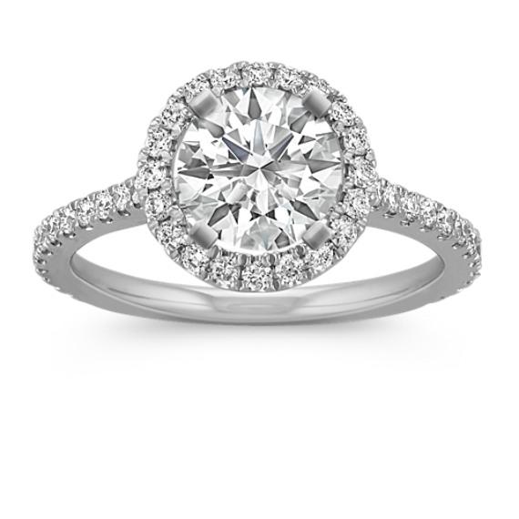 Halo Diamond Engagement Ring for 2.00 Carat Round