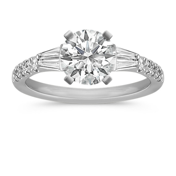 Classic Diamond Engagement Ring in Platinum