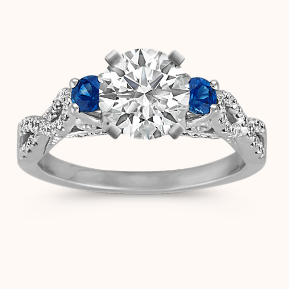 Vintage Pear Shaped Sapphire And Diamond Engagement Ring Shane Co