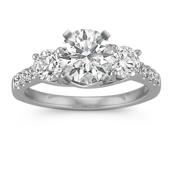 Classic Three-Stone Platinum Engagement Ring