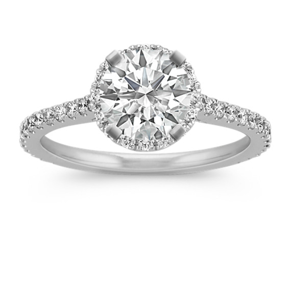 Halo Diamond Engagement Ring for 1.00 Carat Round
