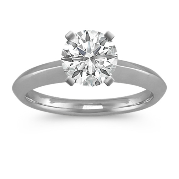 Platinum Knife Edge Engagement Ring