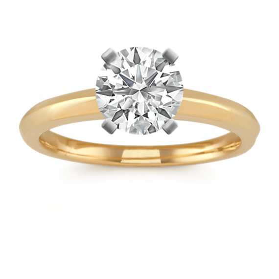 14k Yellow Gold Knife Edge Engagement Ring