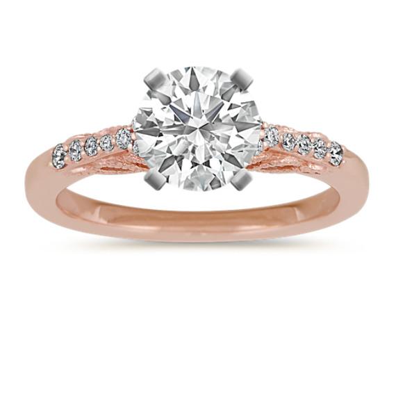 Vintage Diamond Engagement ring in 14k Rose Gold