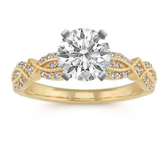Vintage Engagement Ring in 14k Yellow Gold
