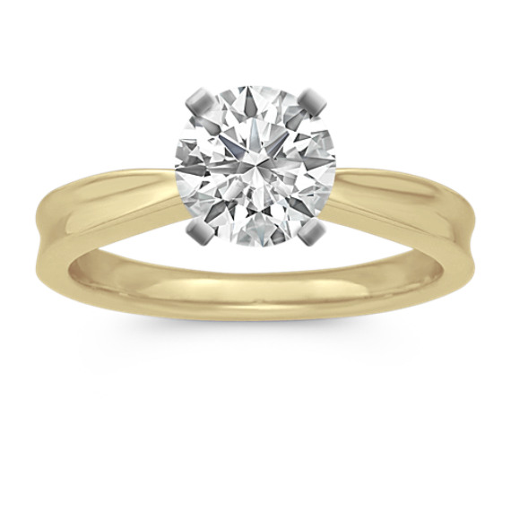Classic 14 Karat Yellow Gold Engagement Ring