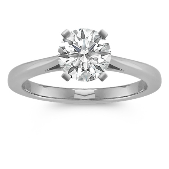 Cathedral Engagement Ring in Platinum