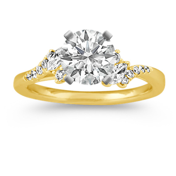 Classic Diamond Engagement Ring in 14k Yellow Gold