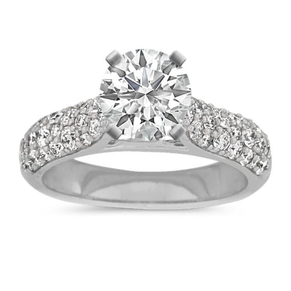Adagio Diamond Engagement Ring in 14k White Gold