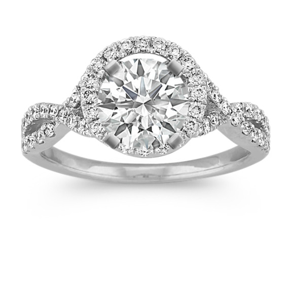 Halo Infinity Diamond Engagement Ring