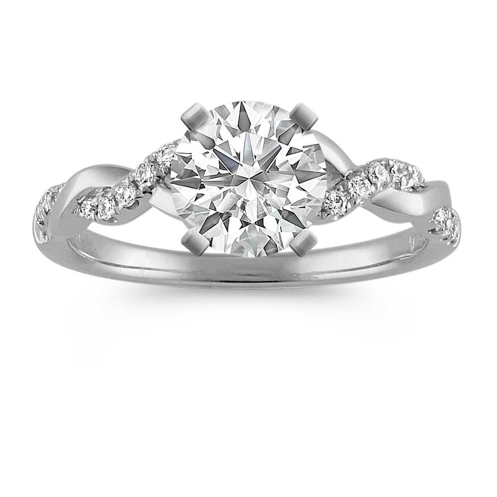 engagement michael b diamond infinity ring pave