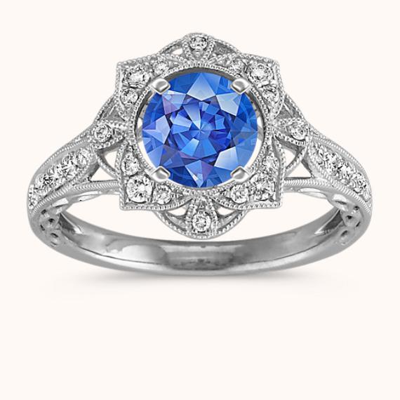 9edabaeb5 Vintage Diamond Halo Engagement Ring for 0.50 Carat Stone | Shane Co.