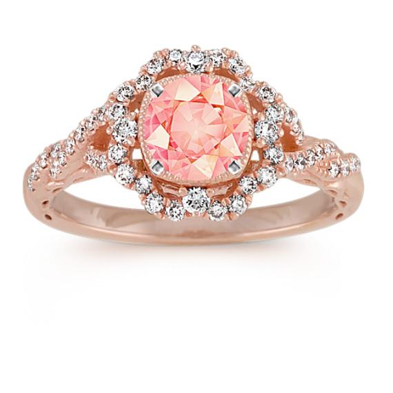Vintage Cushion Halo Diamond Engagement Ring