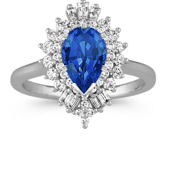 Pear-Shape Halo Diamond Engagement Ring