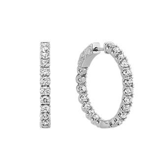 Shane Co For Diamond Hoop Earrings