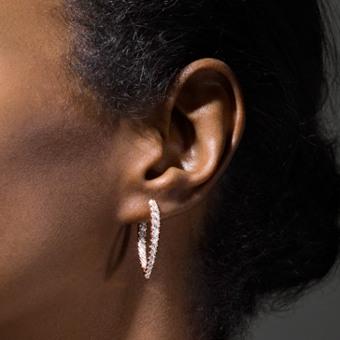 Shop Shane Co  for Diamond Hoop Earrings   Diamond Earrings