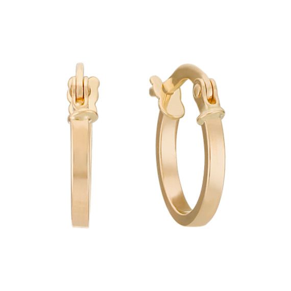 14k Yellow Gold Hoop Earrings image