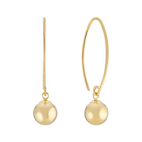 14k Yellow Gold Threader Earrings