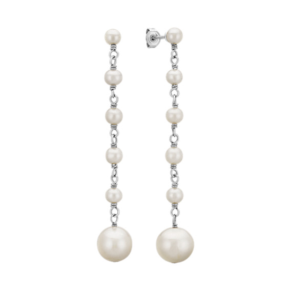 4.5-9.5mm Cultured Freshwater Pearl Earrings