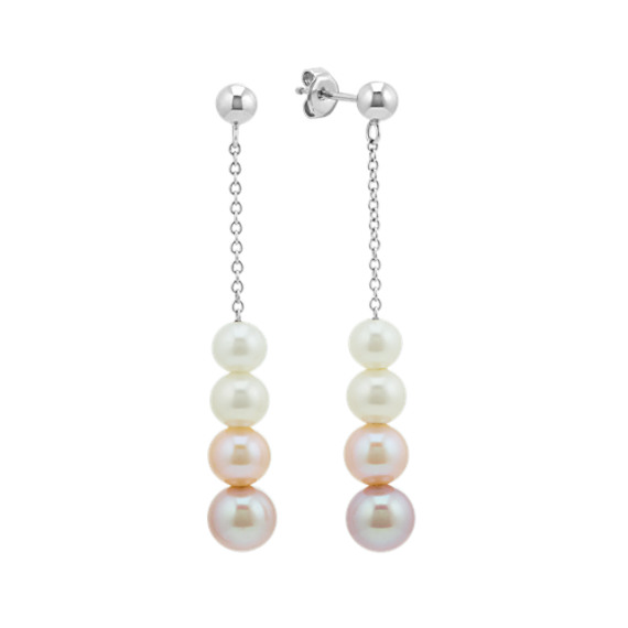 5-7.5mm Graduated Freshwater Pearl Earrings
