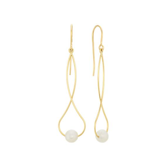 6mm Freshwater Pearl Dangle Earrings