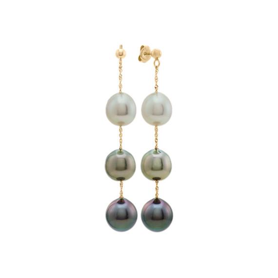 8-10mm South Sea and Tahitian Pearl Dangle Earrings
