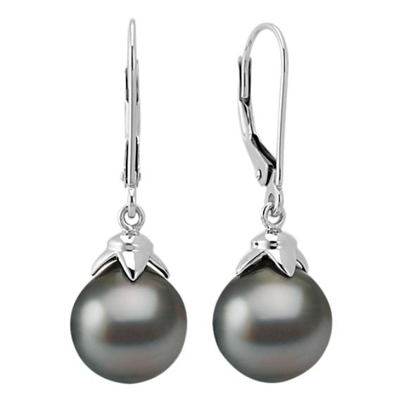 9mm Cultured Tahitian Pearl Fashion Earrings