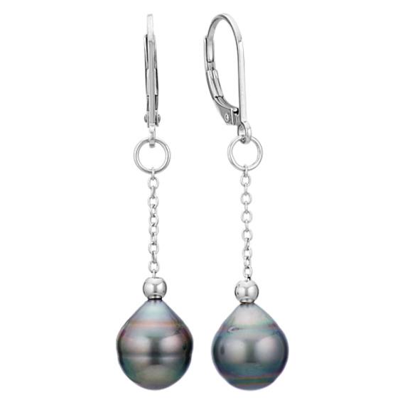 Elements Silver Ladie's White Pearl Sterling Silver Drop Earrings 2AzWO