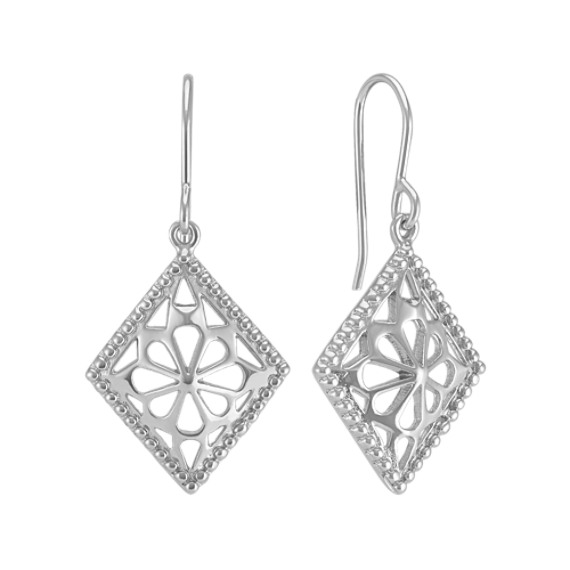 Abstract Compass Earrings in Sterling Silver